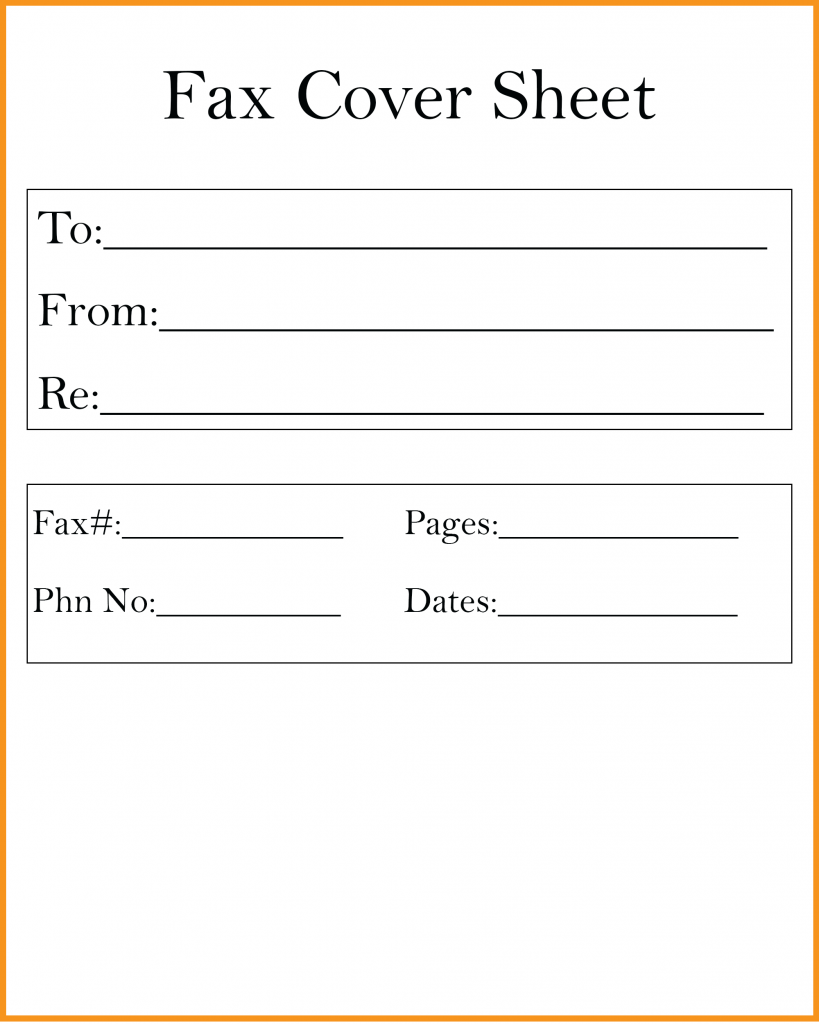 Free Printable Fax Cover Sheet Template in PDF, Word, Excel