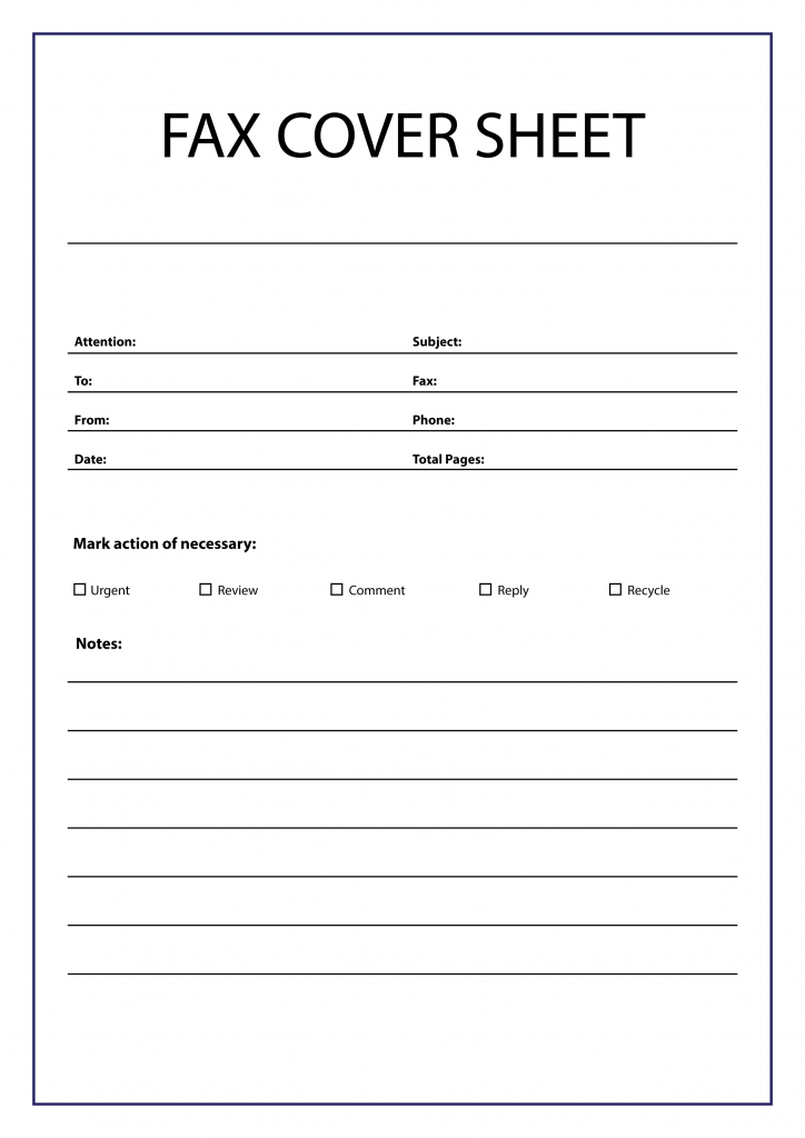 Printable Blank Fax Cover Sheet PDF